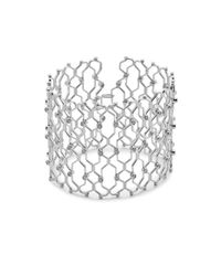Noir Jewelry | Metallic Crystal Cuff Bracelet | Lyst