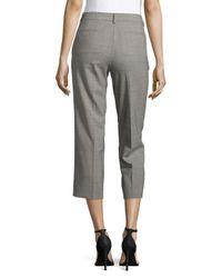 Donna Karan - Gray Pale Cropped Pants - Lyst