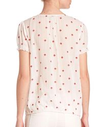 Joie - Multicolor Domingo Embroidered Cotton Blouse - Lyst