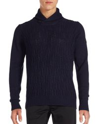 Ben Sherman | Blue Knit Shawl Collar Sweater for Men | Lyst