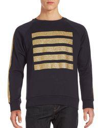 Palm Angels - Blue Printed Raglan Long Sleeve Pullover for Men - Lyst