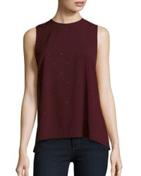French Connection | Red Nightsky Polly Nocturnal Sequined Shell Top | Lyst
