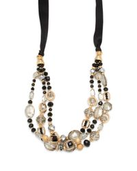 Saks Fifth Avenue | Metallic Handmade Goldplated Multi-strand Necklace | Lyst