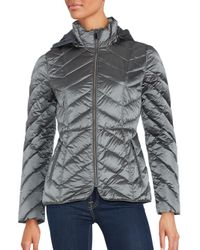 Saks Fifth Avenue | Gray Zip-front Puffer Jacket | Lyst