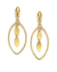 Gurhan | Metallic 24k Yellow Gold-layered Marquis Drop Earrings | Lyst