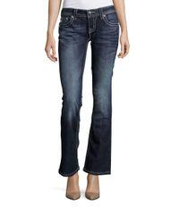 Miss Me | Blue Embellished Bell-bottom Jeans | Lyst