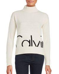 Calvin Klein Jeans   Natural Logo Sweater   Lyst