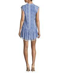 Poupette | Blue Heni Tassel Hem Mini Dress | Lyst