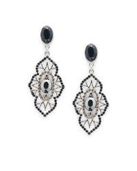 Saks Fifth Avenue | Metallic Decorative Sparkling Dangle Earrings | Lyst