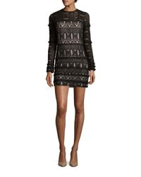 Parker   Black Long Sleeve Lace Dress   Lyst