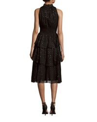 Rebecca Taylor - Black Silk-blend Dress - Lyst