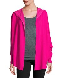 Nanette Lepore | Pink Open Front Heathered Jacket | Lyst