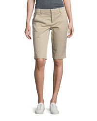 VINCE | Natural Side Buckle Bermuda Shorts | Lyst
