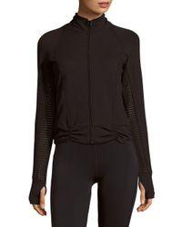 Body Language | Black Ava Mockneck Long-sleeve Jacket | Lyst