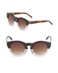 3.1 Phillip Lim | Brown 49mm Speckled Pantos Sunglasses | Lyst