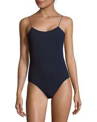 Tibi | Blue Stretch Kate Bodysuit | Lyst