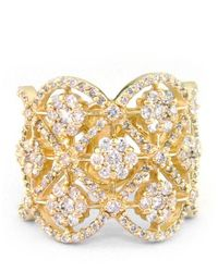 Effy | Metallic Diamond & 14k White Gold Ring | Lyst