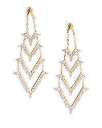 Noir Jewelry | White Opal Drop Earrings | Lyst