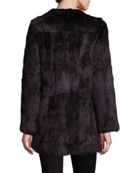 Adrienne Landau - Brown Rabbit Fur Coat - Lyst