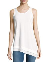 Nanette Lepore | White Solid Asymmetric-hem Top | Lyst