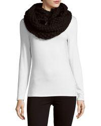 La Fiorentina | Black Knit Fur Infinity Scarf | Lyst