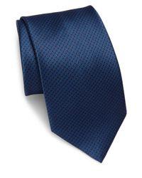 Brioni | Blue Bird's-eye Print Silk Tie for Men | Lyst