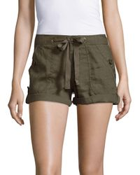 Sanctuary | Green Drawstring Cotton Shorts | Lyst