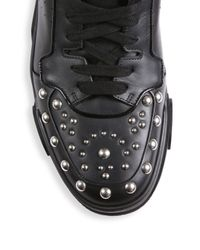 Givenchy - Black Studded Vamp Lace-up Sneakers - Lyst