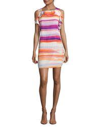 Amanda Uprichard - Multicolor Watercolor Stripe Dress - Lyst