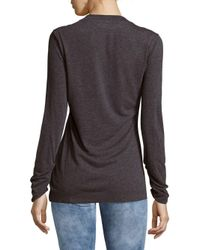 Vivienne Westwood - Gray Textured Ruched Top - Lyst