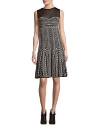 Missoni | Black Printed Illusion Dress | Lyst