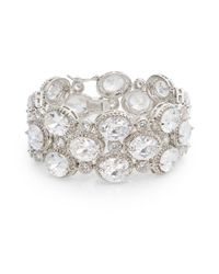 CZ by Kenneth Jay Lane | Metallic Wide Sparkle Bracelet | Lyst