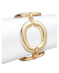 Saks Fifth Avenue | Metallic Oversized Oval Link Bracelet/goldtone | Lyst