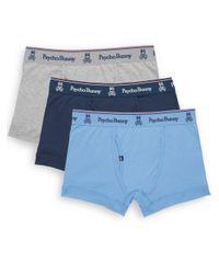 Psycho Bunny | Blue Vintage Cotton Boxer Briefs, 3-pack for Men | Lyst