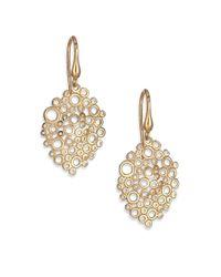 Saks Fifth Avenue - Metallic 14k Yellow Gold Oval Coral Drop Earrings - Lyst