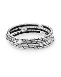 John Hardy   Metallic Kali Bangle Bracelet Set   Lyst