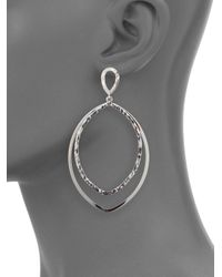 Saks Fifth Avenue | Metallic Sterling Silver Large Drop Earrings | Lyst