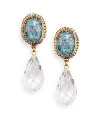 Stephen Dweck | Blue Opal Mosaic Doublet & Quartz Clip-On Drop Earrings | Lyst