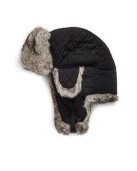 Surell - Black Rabbit Aviator Bomber Hat - Lyst