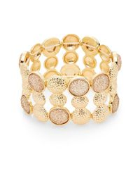 Carol Dauplaise - Metallic Day Glow Radiant Wide Stretch Bracelet - Lyst