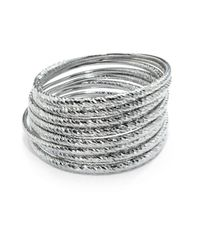 ABS By Allen Schwartz | Metallic Textured Bangle- Set Of 8 | Lyst