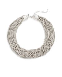Natasha Couture | Metallic Lobster Clasp Strand Necklace | Lyst