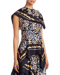 Peter Pilotto - Blue Silk Twill Scarf Top - Lyst