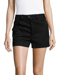 Miu Miu - Black - Flap Pocket Shorts - Women - Cotton - 38 - Lyst