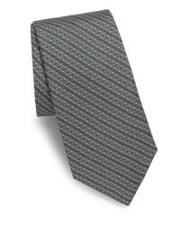 Saks Fifth Avenue - Blue Alternating Link Silk Tie for Men - Lyst