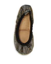Yosi Samra - Metallic Dress Foldable Flats - Lyst