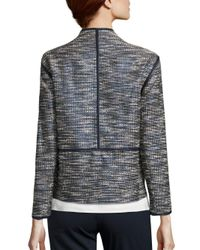 Lafayette 148 New York - Black Dane Alta Reed Cloth Jacket - Lyst