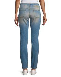 Stella McCartney - Blue The Skinny Distressed Jeans - Lyst