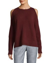 Saks Fifth Avenue - Purple Cold Shoulder Cashmere Pullover - Lyst