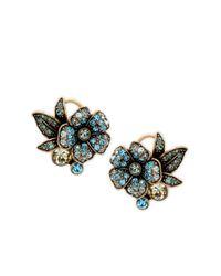 Heidi Daus - Blue Bouquet Of Flowers Crystal Stud Earrings - Lyst